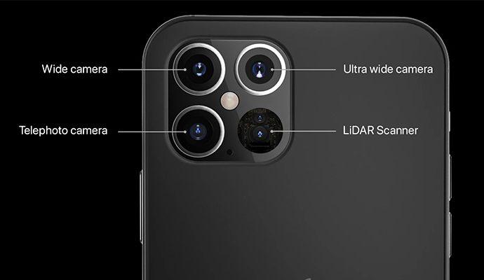 กล้องโทรศัพท์ เลนส์ wide รองรับ iOS iphone 12